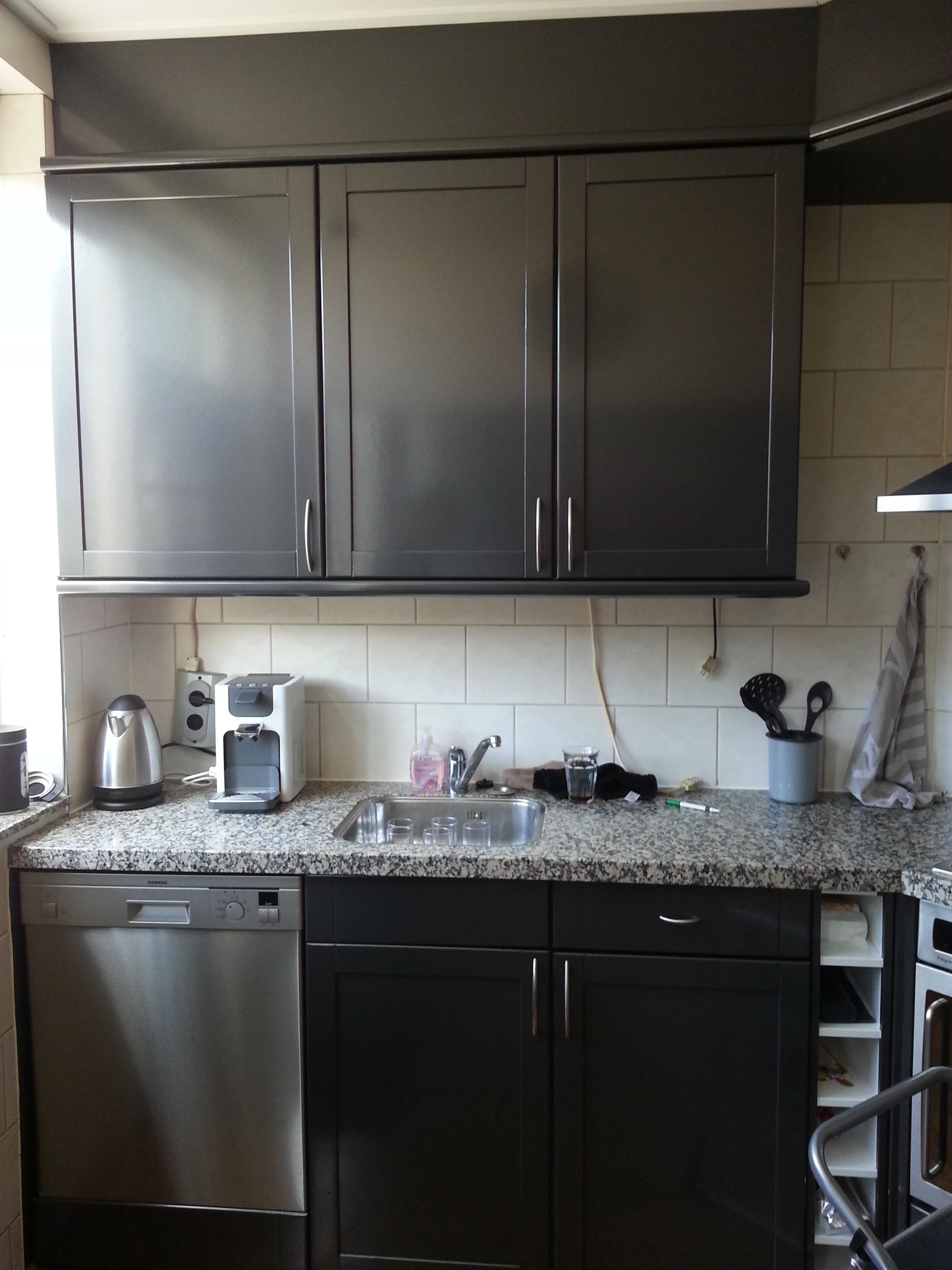 Keuken Rood Grijs : Keuken ? van hout / wit naar metallic grijs!